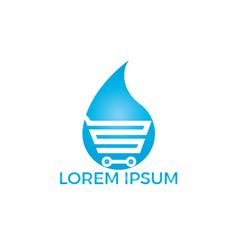 online water store logo concept vector image