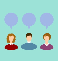 People with chat speech bubbles social network - vector