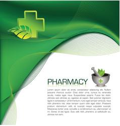 pharmacy brochure vector image vector image