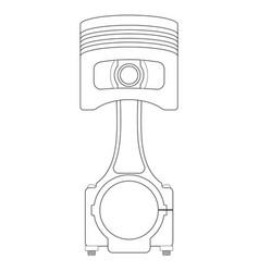 piston outline icon vector image