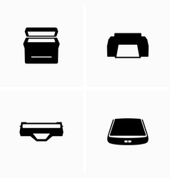 printers with cartridge and scanner vector image