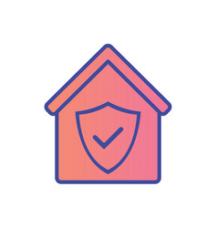 protect home flat icon sign symbol vector image