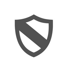 protection shield icon on a white background vector image