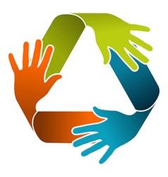Recycle teamwork concept design vector