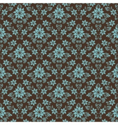 retro damask pattern vector image