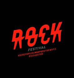 Rock music festival style font design alphabet vector