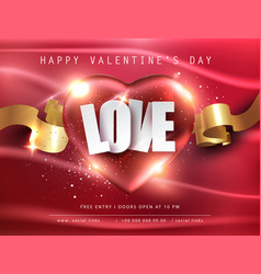 romantic composition design valentines day vector image