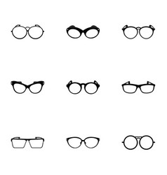 Safety glasses icons set simple style vector