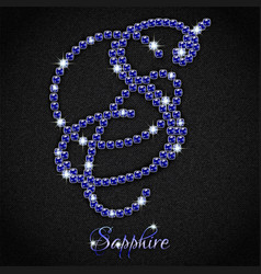 Sapphire on black denim vector