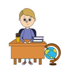 school child cartoon vector image