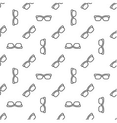 Seamless linear glasses pattern or texture vector