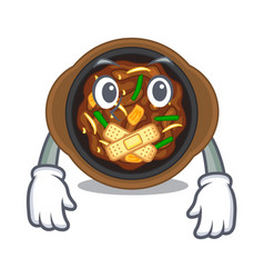 Silent bulgogi isolated with in character vector