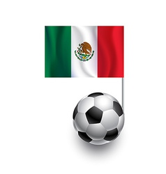 Soccer Balls or Footballs with flag of Mexico vector image