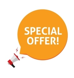 Spacial offer isolated on vector image