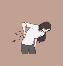 Suffering from chronic back pain concept vector