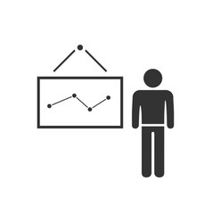 teacher icon flat vector image