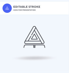 triangle icon filled flat sign solid vector image