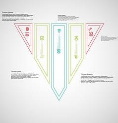 Triangle infographic template divided to five vector