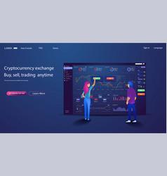 web site trade design template finance char vector image