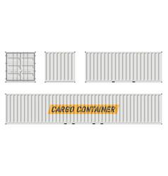 White cargo container vector