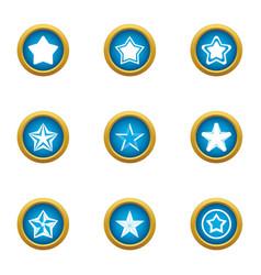 wye icons set flat style vector image