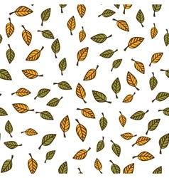Leaf seamless pattern background vector image