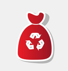 trash bag icon new year reddish icon with vector image