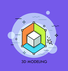 3d or three-dimensional modeling rendering vector