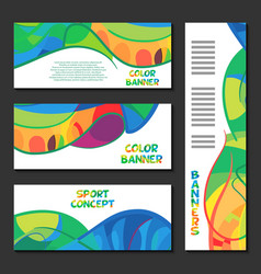 Colorful abstract template design brochure poster vector image vector image