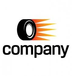 fast car wheel logo vector image