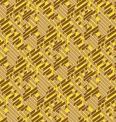 Golden labyrinth background vector image