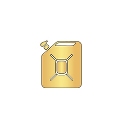 Jerrycan oil computer symbol vector image vector image