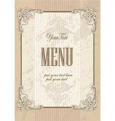 menu cover design vector image vector image