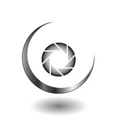 Photography logo in grey vector image vector image