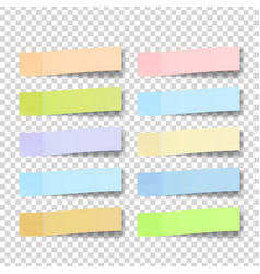 post note sticker color sticky notes vector image