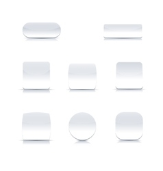Set of white buttons vector image