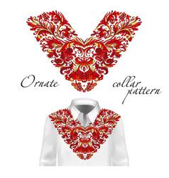 shirt jacket and t-shirt collar pattern vector image vector image