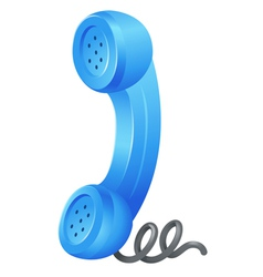 Telephone receiver vector image