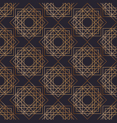 geometric seamless pattern with squares drawn with vector image