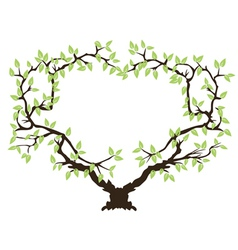 green tree frame vector image vector image