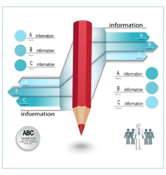 infographics template layout vector image