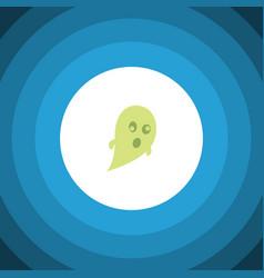 Isolated ghost flat icon phantom element vector
