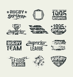 Set of badges college rugby team vector image vector image