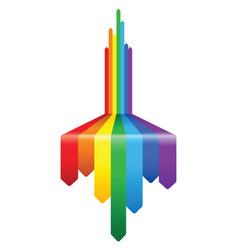 abstract rainbow arrow pattern design vector image vector image