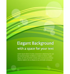 green brochure design vector image