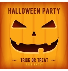 Halloween Party Poster Design template with orange vector image vector image