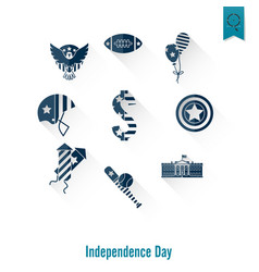 independence day of the united states vector image