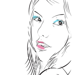 make up girl vector image