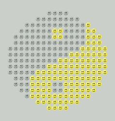 Smiley yin yang vector image