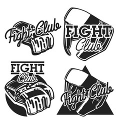 vintage fight club emblems vector image vector image